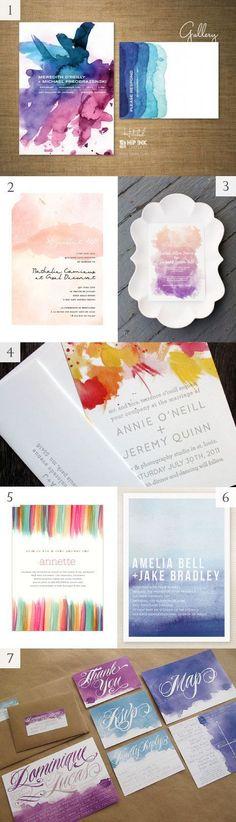 Stationery: Watercolor wedding invitations, watercolor wedding ideas