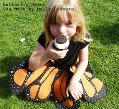 504 Main by Holly Lefevre: The Monarchs Have Arrived: How To Make a Butterfly Skirt