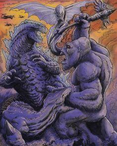 All Godzilla Monsters, Godzilla 2, Japanese Monster, Skull Island, King Kong, Cool Art, Awesome Art, Thinking Of You, Horror