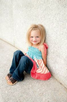 Cute Braided Fringe Hairstyle for Kid