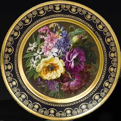 Antique Sevres Porcelain - Free Appraisal and Price Guides - Sevres Old Plates, Antique Plates, Antique China, Vintage China, Plates On Wall, Decorative Plates, China Painting, Teller, China Porcelain