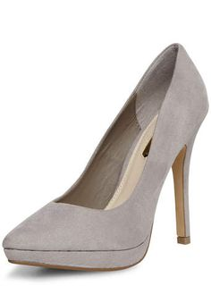 Grey platform pointed court shoes - New In Shoes - New In