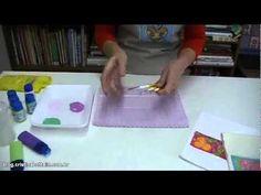 Miniaula de pintura de estamparia em tecido.