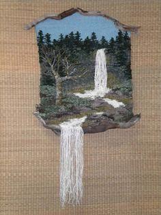 Wood n I Weavings : Thalia Truesdell Weaving Textiles, Weaving Art, Weaving Patterns, Tapestry Weaving, Loom Weaving, Hand Weaving, Weaving Wall Hanging, Peg Loom, Art Textile