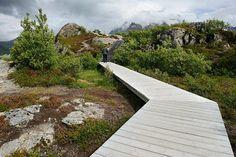 Viewing platform at Austnesfjord in Vågan, Austvågøy island.  Photo: Jarle Wæhler