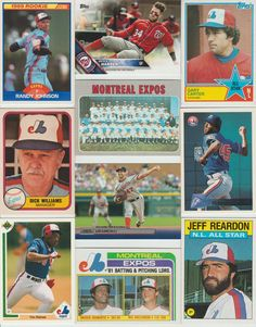 HUGE 800 different NATIONALS / EXPOS Baseball cards lot 1970 - 2016 Harper Werth #WashingtonNationals