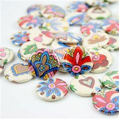 Polish Art Center - Kashubian Pin Back Button