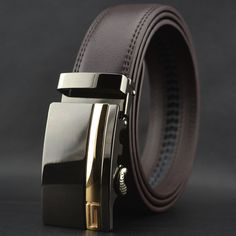 Designer Leather Mens Belts Luxury Belts For Men High Quality Automatic Buckle Ceinture Cinto Masculinos Cinturones Hombre W202