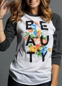 Beauty Baseball Tee from Sevenly