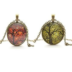 Vintage Fashion and Lifestyle TL Set of 2 Vintage Ladies' Necklace the Tree of Life Glass Gem Pendant Long Chain Blessing Necklaces Check more at http://secretofdiva.com/product/tl-set-of-2-vintage-ladies-necklace-the-tree-of-life-glass-gem-pendant-long-chain-blessing-necklaces/
