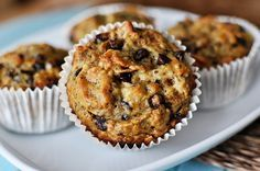Banana Bran Muffins... Subbed wheat bran for bran flakes, just because I had it on hand. Only used a bit more then 2 cups.