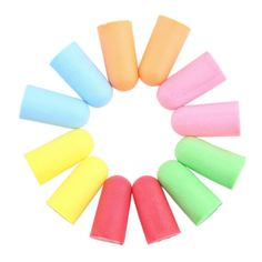 Soft Foam Ear Plugs Tapered Travel Sleep Noise Prevention Earplugs Noise Reduction For Travel Sleeping Random Color Wholesale