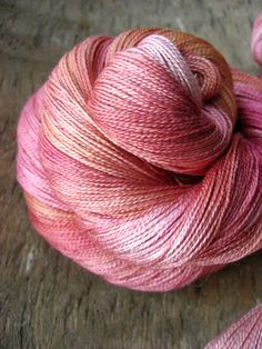 Love it!   Soft Pink Flamingo  Hand Dyed Silk Yarn by sericin on Etsy, $20.00