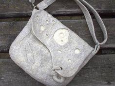 #Grey #Felted #Messenger #Bag #Laptop #womensbag #melmetextil #etsy
