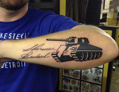 sherman tank tattoo tad peyton