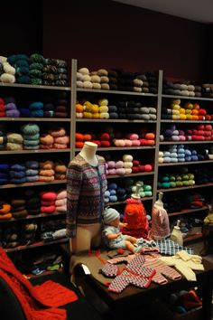 Notre boutique - a yarn shop in Paris