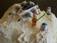 Joey's Lego Star Wars cake, via Flickr.