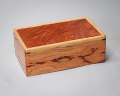 Small Keepsake Box, Personal Box, Memory Box.  Cherry with Pellin Lid. The Personal 1112-007-004 by MountainViewWood on Etsy