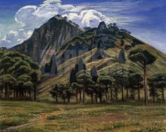 Dr Atl aka Gerardo Murillo was a Mexican painter. Biography and oil painting, El Paricutin 1946 Tepozteco Landscape 1943.