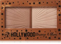 Hollywood Bronze & Glow Duo Bronzer & Highlighter from MissLuvit. Saved to Quick Saves. Hollywood, Makeup Brush Set, Face Makeup, W7 Cosmetics, Makeup For Moms, Thing 1, Glow Kit, Makeup Essentials, Drugstore Makeup