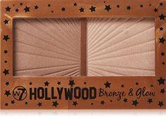 Hollywood Bronze & Glow Duo Bronzer & Highlighter from MissLuvit. Saved to Quick Saves. Hollywood, Makeup Brush Set, Face Makeup, W7 Cosmetics, Makeup For Moms, Glow Kit, Makeup Essentials, Drugstore Makeup, Makeup Geek