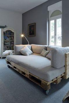 divano letto con pallet e ruote idee fai da te con bancali tutorial artigiani