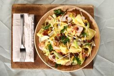 Pasta Salad with Chicken, Bacon and Apple