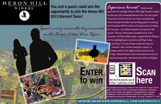 Enter to win the Harvest Sweepstakes at Heron Hill Winery.