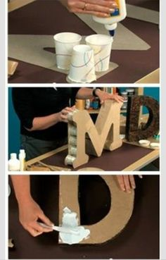 DIY letter and number pictorial Fête pour Enfants 💖💖 DIY: Alphabets 💖💖 Cardboard Letters, Diy Letters, Cardboard Crafts, Paper Crafts, 3d Alphabet, Alphabet Party, Birthday Party Decorations Diy, Birthday Diy, Letter Standee Diy