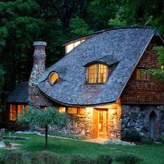 Caba a de piedra y madera estilo casa de libro de cuentos for Piani di casa cottage storybook
