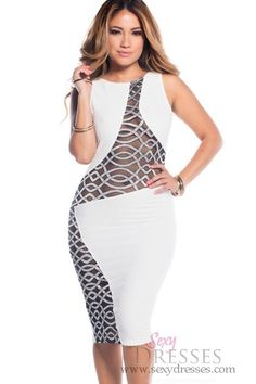 Mesh cut out dresses fashion trend