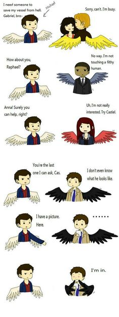 Michael ask Cas to save Dean from hell