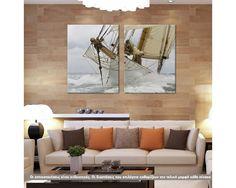 Breaking The Waves, δίπτυχος  πίνακας σε καμβά (multipanel) Rugs, Decoration, Home Decor, Farmhouse Rugs, Decor, Decoration Home, Room Decor, Deko, Embellishments