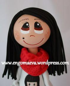 Peinado pelo largo, liso y negro --- Long black hair, and smooth http://engomaeva.wordpress.com/
