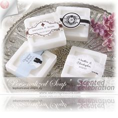 Personalized Scented Soap (Set of Bridal Shower favors Wedding Favours Bridesmaids, Wedding Favors Cheap, Bridal Shower Favors, Wedding Ideas, Wedding Sparklers, Wedding Planning, Wedding Invitations, Diy Wedding Supplies, Diy Party Supplies
