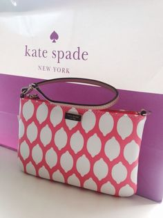Kate Spade Lolly Grant Street Grainy Vinyl wristlet #katespade #Clutch