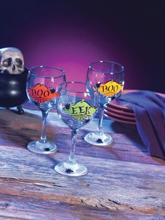 Spooky Spiders Glassware.. You could get the glasses at the Dollar Store.