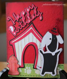 cricut cards using paper pups | This is another card I made for my son's birthday ~ given to him by ...