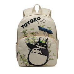 369ba14c8c69 Totoro cartoon logo canvas schoolbag backpack Men s Bags