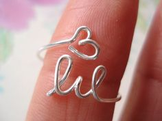 Sorority Personalized ring (price for each)...handmade big, little sisters symbol in sterling silver, birthday,  college ring. $25.00, via Etsy.