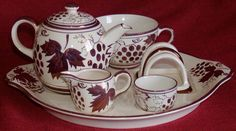 Gray's Pottery England Breakfast Set-Tea for 1-Bachelor-Susie Cooper Luster-1930