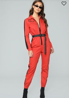 Out Of This Nova Jumpsuit - Red – Fashion Nova Kpop Fashion Outfits, Red Fashion, Fashion Wear, Womens Fashion, Birmingham, Stylish Scrubs, Fashion Nova Jumpsuit, Satin Jumpsuit, Playsuit Romper