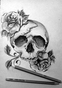 Easy Skull Drawings