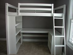 I build this Dream Study Loft Bed.  loftmonkeycleveland @ gmail.com facebook.com/loftmonkey