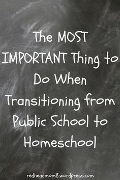 Transitioning from public school to homeschool