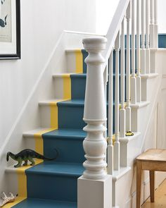 """Not ready to do the whole floor? This painted-on stair """"runner"""" is the perfect test-drive."""