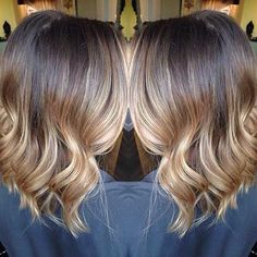 Blonde Balyage and Ombre Long Bob
