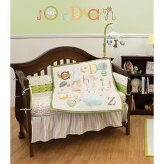 My ABCs 5-piece Nursery Bedding and Bumper Set | Overstock.com Shopping - The Best Deals on Bedding Sets