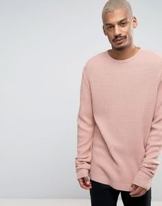 Asos Oversized Textured Jumper With Slouchy Sleeves