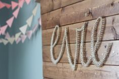 Lots of love went into this awesome DIY nursery accent. Who's gonna try this?